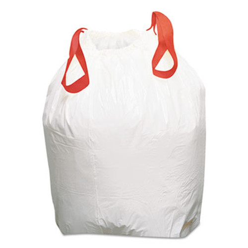 Boardwalk Drawstring Low-Density Can Liners  13 gal  0 8 mil  24 5  x 27 4   White  100 Carton (BWK1DK100)