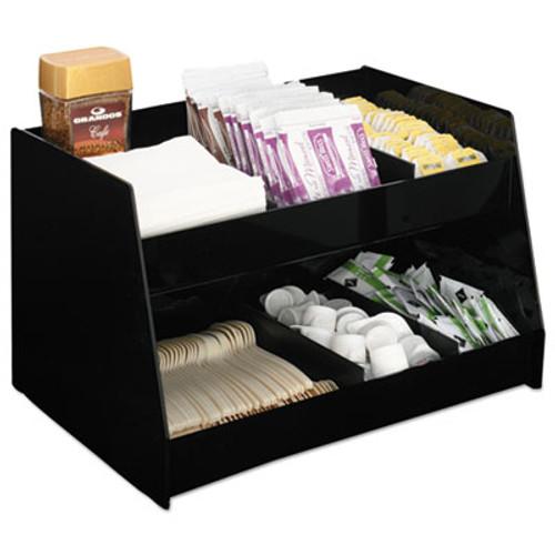 Boardwalk Condiment Organizer  14 1 3 x 10 1 2 x 9 2 3  6-Compartment  Black (BWK99001)
