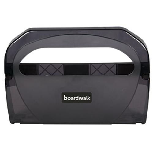 Boardwalk Toilet Seat Cover Dispenser  Plastic  17 1 4 x 3 1 8 x 11 3 4  Smoke Black (BWKTS510SBBWEA)