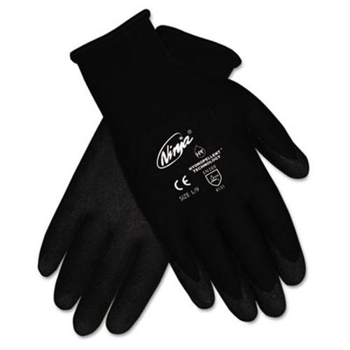 MCR Safety Ninja HPT PVC coated Nylon Gloves  Large  Black  Pair (CRWN9699LPK)