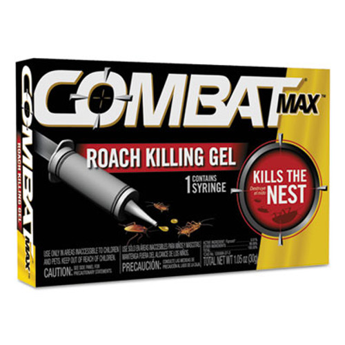 Combat Source Kill Max Roach Killing Gel, 1.058oz Syringe, 12/Carton (DIA05452)
