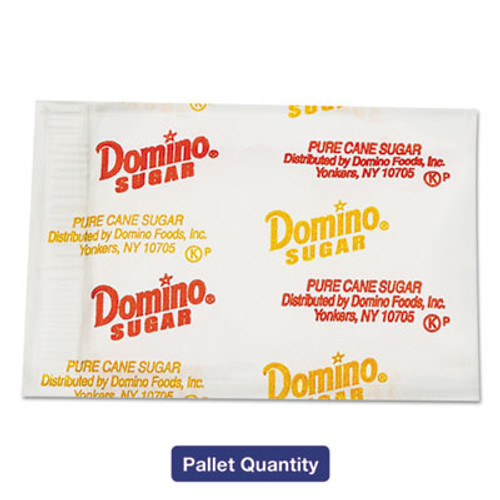Domino Sugar Portion Packets, 0.010 oz Packets, 2000/Carton, 72 Carton/Pallet (DMN845354PLT)