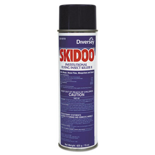 Diversey Skidoo Institutional Flying Insect Killer, 15 oz Aerosol, 6/Carton (DVO5814919)