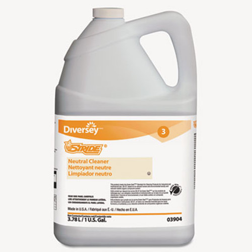 Diversey Stride Neutral Cleaner  Citrus  1 gal  4 Bottles Carton (DVO903904)