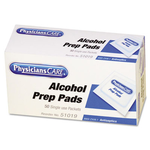 PhysiciansCare by First Aid Only First Aid Alcohol Pads  50 Box (FAO51019)