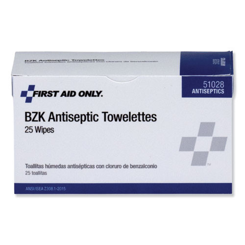 PhysiciansCare by First Aid Only First Aid Antiseptic Towelettes  25 Box (FAO51028)