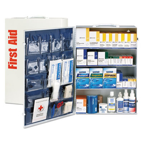 First Aid Only ANSI Class B  4 Shelf First Aid Station with Medications  1437 Pieces (FAO90576)