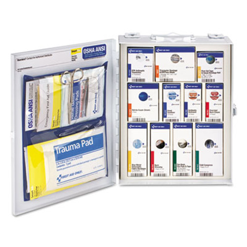 First Aid Only ANSI 2015 SmartCompliance Food Service Cabinet w o Medication 25 People 94 Piece (FAO90658)