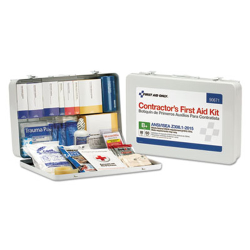 First Aid Only Contractor ANSI Class B First Aid Kit for 50 People  254 Pieces (FAO90671)