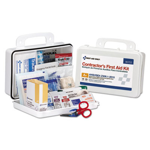 First Aid Only Contractor ANSI Class A  First Aid Kit for 25 People  128 Pieces (FAO90753)