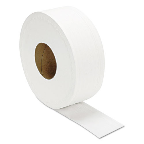 GEN Jumbo Bathroom Tissue  Septic Safe  2-Ply  White  650 ft  12 Roll Carton (GEN29B)