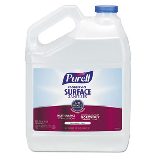 PURELL Foodservice Surface Sanitizer  Fragrance Free  1 gal Bottle  4 Carton (GOJ434104)