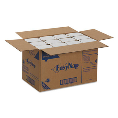 "Georgia Pacific Professional EasyNap Embossed Dispenser Napkins Two-Ply, 6 1/2"" x 9 7/8"", White, 6000/Carton (GPC32006)"