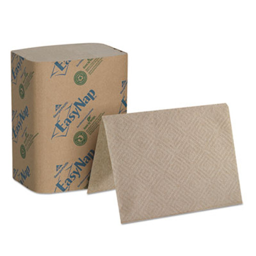 "Georgia Pacific Professional EasyNap Embossed Dispenser Napkins 2-Ply, 6 1/2"" x 5"" Folded, Brown, 6000/Carton (GPC32019)"
