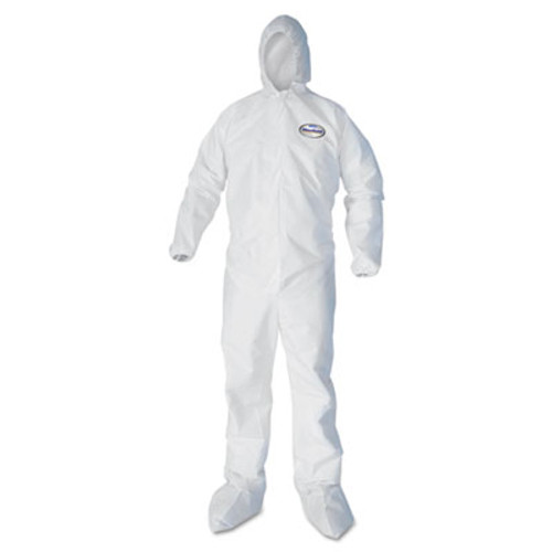KleenGuard* A30 Elastic-Back Coveralls, White, Large, 25/Carton (KCC46123)