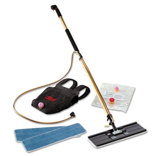 3M Easy Shine Applicator Kit w Backpack  18  Pad  43  - 63  Handle  Gold Black (MMM55433)