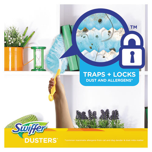 Swiffer Refill Dusters  Dust Lock Fiber  Light Blue  Lavender Vanilla Scent  10 Box (PGC21461BX)