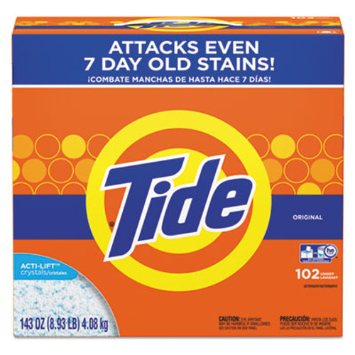 Tide Powder Laundry Detergent  Original Scent  143 oz Box  2 Carton (PGC85006CT)