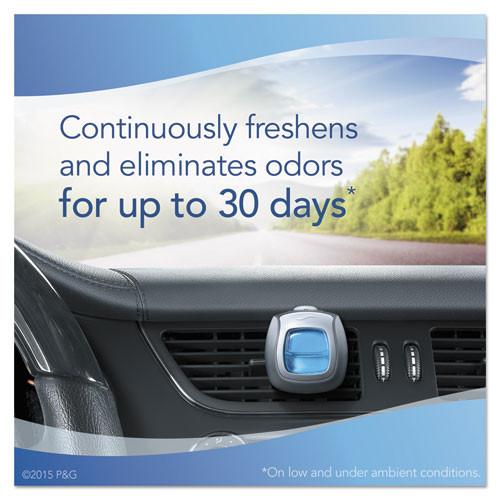Febreze CAR Air Freshener  Gain Original  2 ml Clip  2 Pack  8 Packs Carton (PGC94731CT)