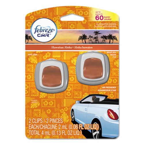 Febreze CAR Air Freshener  Hawaiian Aloha  2 ml Clip  2 Pack (PGC94734PK)