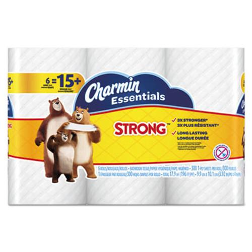 Charmin Essentials Strong Bathroom Tissue, 1-Ply, 4 x 3.92, 300/Roll, 6 Rl/Pk, 8 Pk/Ctn (PGC96892)
