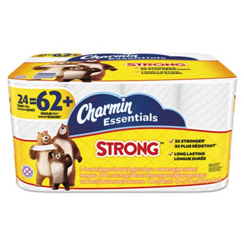 Charmin Essentials Strong Bathroom Tissue, 1-Ply, 4 x 3.92, 300/Roll, 24 Roll/Pack (PGC96897)