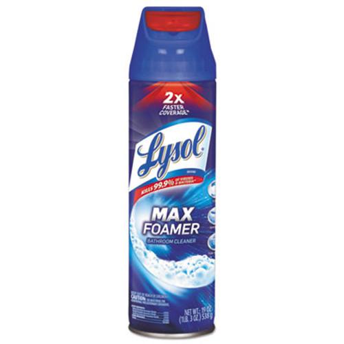 LYSOL Brand Max Foamer Bathroom Cleaner  Fresh Scent  19 oz Aerosol  12 Carton (RAC95026)