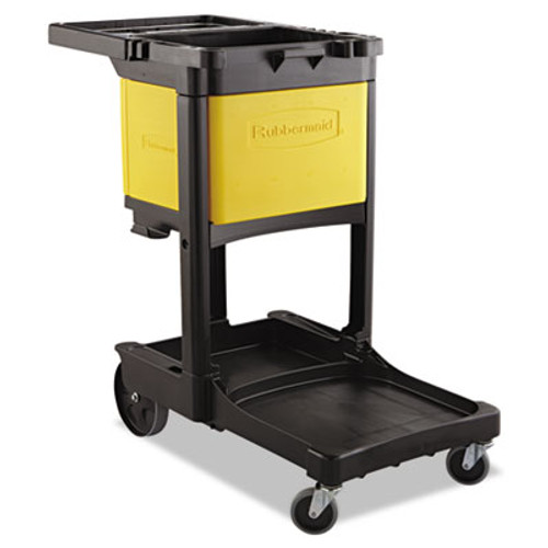 Rubbermaid Commercial Locking Cabinet, For Rubbermaid Commercial Cleaning Carts, Yellow (RCP6181YEL)
