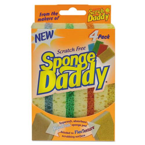 Scrub Daddy Sponge Daddy Dual-Sided Sponge  3 3 8 x 5 563 x 2 5 8  Assorted 4 Pk 20Pk Ctn (SCBSPDDY4)
