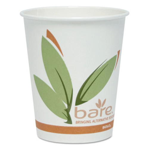 Dart Bare by Solo Eco-Forward Recycled Content PCF Hot Cups  Paper  10 oz  300 Carton (SCCOF10RCJ8484)