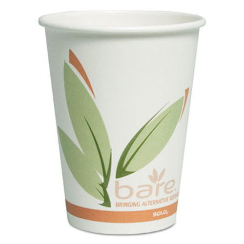 Dart Bare by Solo Eco-Forward Recycled Content PCF Paper Hot Cups  12 oz  300 Carton (SCCOF12RCJ8484)