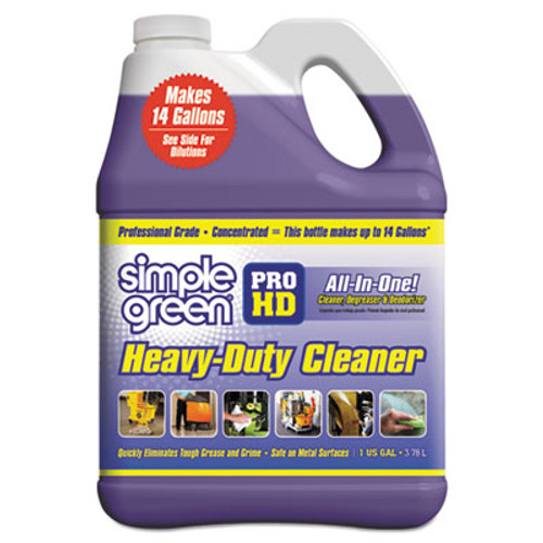 Simple Green Pro HD Heavy-Duty Cleaner  Unscented  1 gal Bottle  4 Carton (SMP13421)