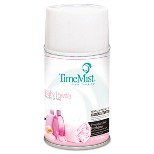 TimeMist Metered Fragrance Dispenser Refill, Baby Powder, 6.6 oz, Aerosol (TMS1042686EA)