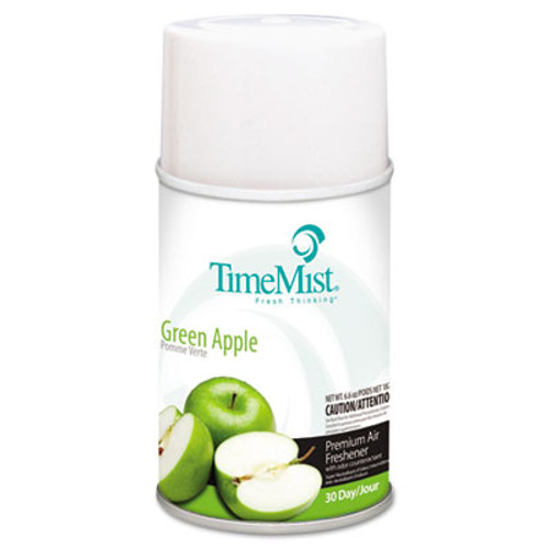 TimeMist Metered Fragrance Dispenser Refills, Green Apple 6.6 oz, 12/Carton (TMS1042694)