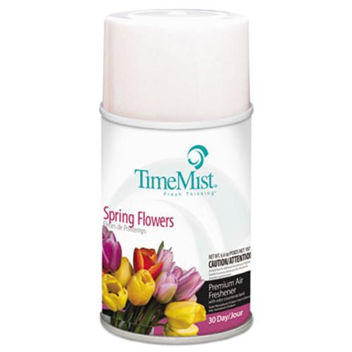 TimeMist Premium Metered Air Freshener Refill  Spring Flowers  5 3 oz Aerosol  12 Carton (TMS1042712)
