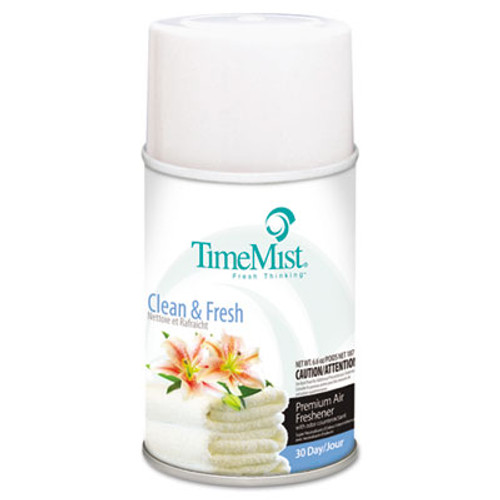 TimeMist Premium Metered Air Freshener Refill  Clean N Fresh  6 6 oz Aerosol  12 Carton (TMS1042771)