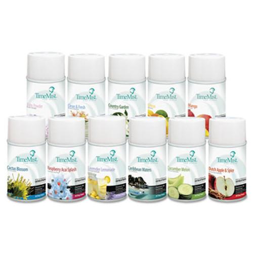 TimeMist Premium Metered Air Freshener Refill  Assorted Fragrances  6 6oz Aerosol  12 Carton (TMS1043978)