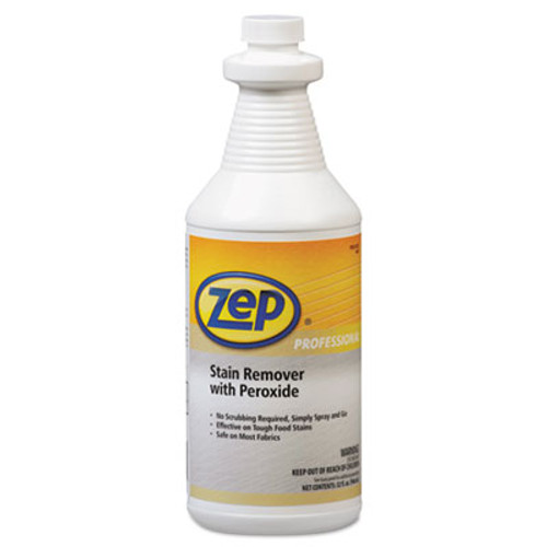Zep Professional Stain Remover with Peroxide  Quart Bottle  6 Carton (ZPP1041705)