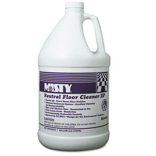 Misty Neutral Floor Cleaner EP, Lemon, 1gal Bottle, 4/Carton (AMR1033704)