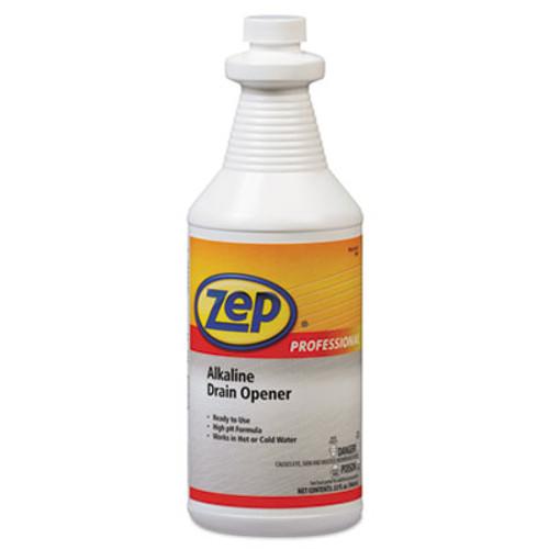 Zep Professional Alkaline Drain Opener Quart Bottle (AMR1041423)
