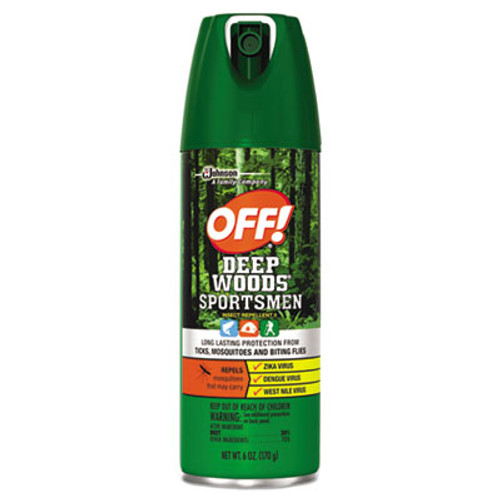 OFF! Deep Woods Sportsmen Insect Repellent, 6 oz Aerosol, 12/Carton (SJN629374)
