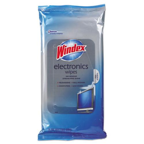 Windex Electronics Cleaner, 25 Wipes (SJN642517EA)