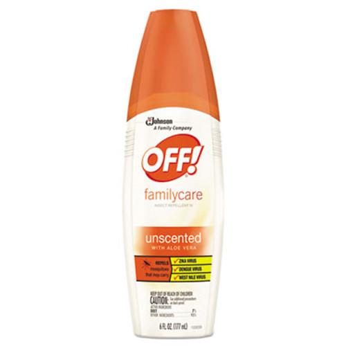 OFF! FamilyCare Insect Repellent Spray, 6 oz Spray Bottle, Unscented, 12/Carton (SJN654458)