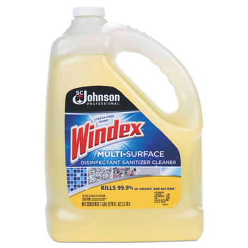 Windex Multi-Surface Disinfectant Cleaner, Citrus, 1 gal Bottle, 4/Carton (SJN682265)