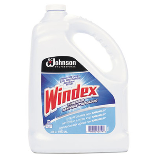 Windex Powerized Formula Glass & Surface Cleaner, 1gal Bottle, 4/Carton (SJN696503)