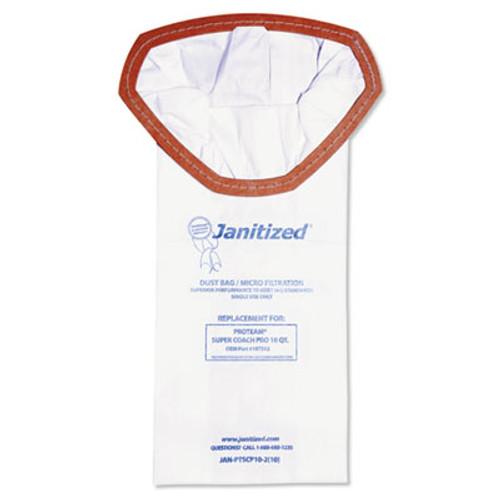 Janitized Vacuum Filter Bags Designed to Fit ProTeam Super Coach Pro, 10/PK, 10PK/CT (APCJANPTSCP102)