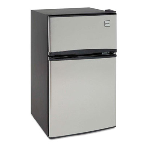 Avanti Counter-Height 3.1 Cu. Ft Two-Door Refrigerator/Freezer, Black/Stainless Steel (AVARA31B3S)