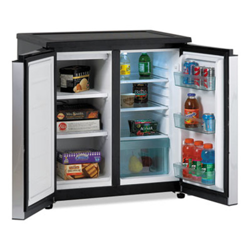 Avanti 5.5 CF Side by Side Refrigerator/Freezer, Black/Stainless Steel (AVARMS551SS)