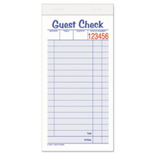 Adams Guest Check Unit Set  Carbonless Duplicate  6 7 8 x 3 3 8  50 Forms  10 Pack (ABF10450SW)