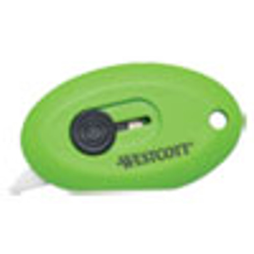 Westcott Compact Safety Ceramic Blade Box Cutter  2 5   Retractable Blade  Green (ACM16474)